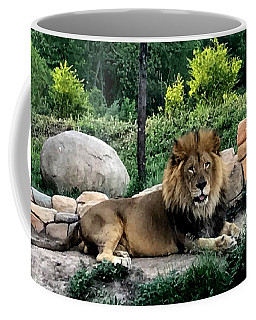 Tomo, The King Of Beasts Coffee Mug by Laurel Talabere