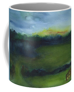 Coffee Mug featuring the painting Tone And Twilight by Frank Bright