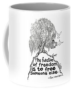 Toni Morrison Tree Drawing Coffee Mug