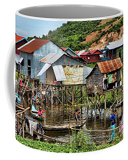 Tonle Sap Boat Village Cambodia Coffee Mug