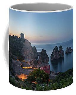 Tonnara And Faraglioni Rocks In Scopello At Dusk Coffee Mug