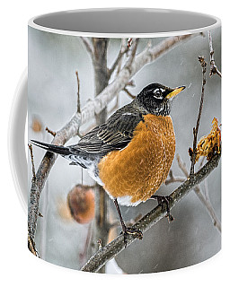 Too Early Robin Red Breast Coffee Mug by Marty Saccone
