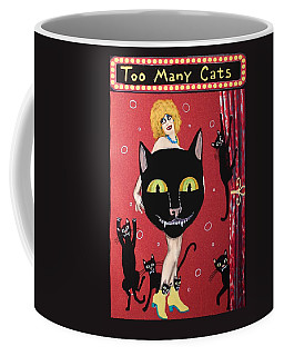 Too Many Black Cats Coffee Mug