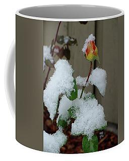 Too Soon Winter - Yellow Rose Coffee Mug by Shirley Heyn