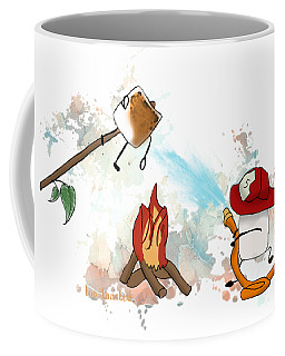 Coffee Mug featuring the digital art Too Toasted Illustrated by Heather Applegate