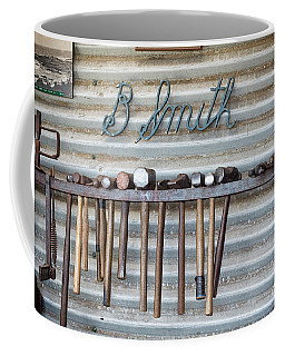 Coffee Mug featuring the photograph Tools Of The Trade by Linda Lees