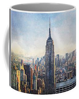 Top Of The 30 Rock Coffee Mug by Kai Saarto