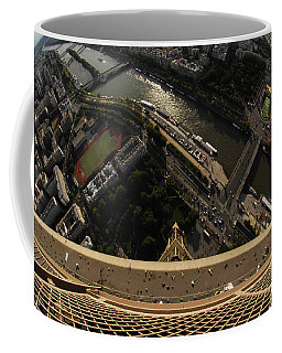 Top Of The Eiffel Tower Coffee Mug by Micah May
