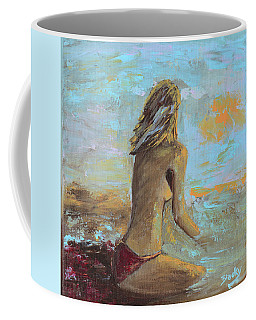Topless Beach Coffee Mug by Donna Blackhall