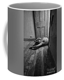 Topless Woman In Doorway Coffee Mug