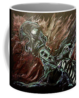 Coffee Mug featuring the painting Tormented Soul by Reed Novotny