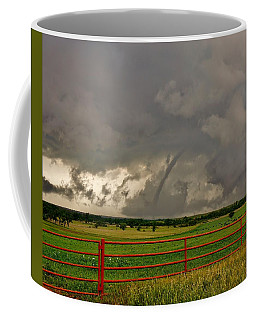 Coffee Mug featuring the photograph Tornado At The Ranch by Ed Sweeney