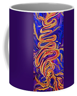 Coffee Mug featuring the painting Tornado Swirls by Claire Bull