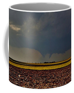 Coffee Mug featuring the photograph Tornadoes Across The Fields by Ed Sweeney