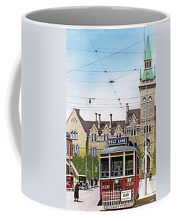 Coffee Mug featuring the painting Toronto Belt Line by Kenneth M Kirsch