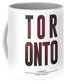 Toronto, Canada - City Name Typography - Minimalist City Posters Coffee Mug