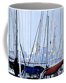 Coffee Mug featuring the photograph Toronto Impressions From Port Credit by Ian  MacDonald