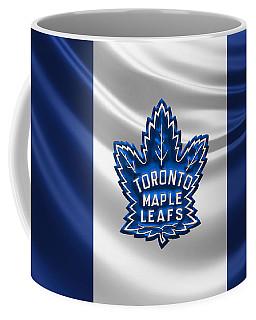 Toronto Maple Leafs - 3 D Badge Over Silk Flag Coffee Mug