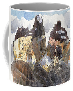 Coffee Mug featuring the painting Torres Del Paine, Chile by Judith Kunzle
