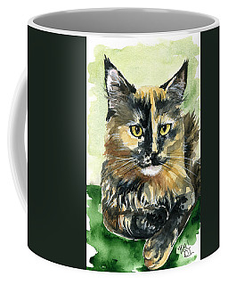 Tortoiseshell Maine Coon Portrait Coffee Mug