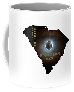 Total Solar Eclipse In South Carolina Map Outline Coffee Mug