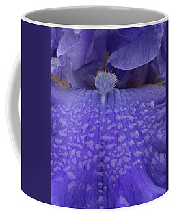Coffee Mug featuring the photograph Totally Blue Iris by Jean Noren