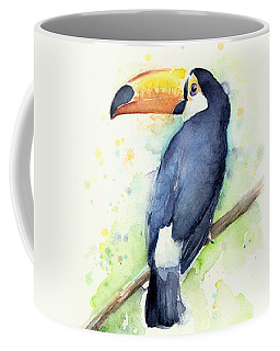 Toucan Watercolor Coffee Mug