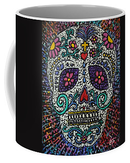 Coffee Mug featuring the painting Touch Of Death by Amelie Simmons