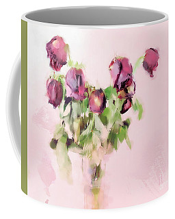 Coffee Mug featuring the mixed media Touchable by Betty LaRue