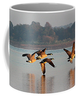 Touching Down At Sunrise Coffee Mug