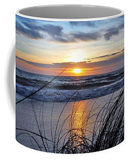 Touching The Sunset Coffee Mug by Kicking Bear Productions
