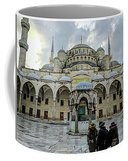 Tourists And The Blue Mosque Coffee Mug