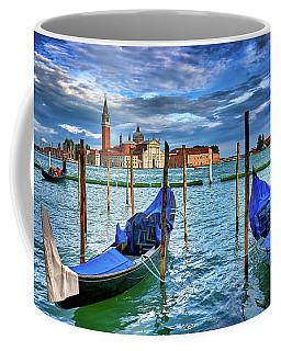 Gondolas And San Giorgio Di Maggiore In Venice, Italy Coffee Mug
