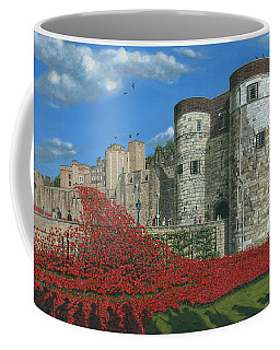 Tower Of London Poppies - Blood Swept Lands And Seas Of Red  Coffee Mug