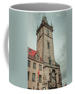 Coffee Mug featuring the photograph Tower Of Old Town Hall In Prague by Jenny Rainbow
