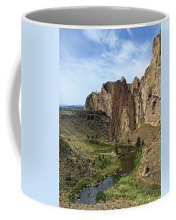 Towering Smith Rocks Coffee Mug