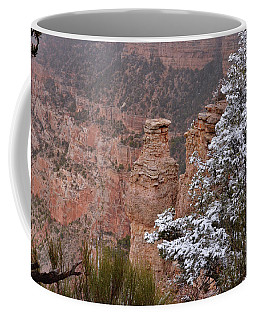 Towers In The Snow Coffee Mug by Debby Pueschel