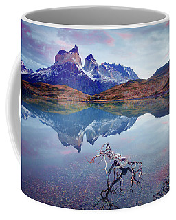 Coffee Mug featuring the photograph Towers Of The Andes by Phyllis Peterson