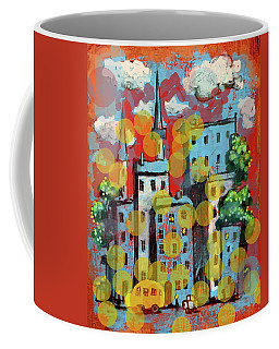Town With A School Bus Coffee Mug