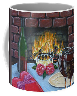 Coffee Mug featuring the painting Toxic Romance by Amelie Simmons