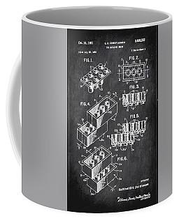 Toy Building Brick Patent Drawing 1b Coffee Mug
