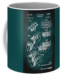 Toy Building Brick Patent Drawing 1c Coffee Mug
