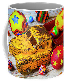 Toy Truck With Balls And Marbles Coffee Mug