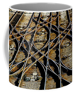 Tracks Of Abandon Coffee Mug by Michael Nowotny