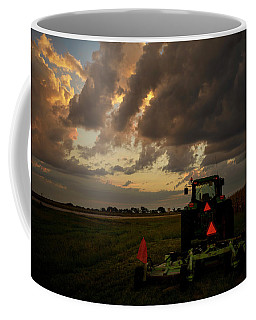 Tractor At Sunrise - Chester Nebraska Coffee Mug