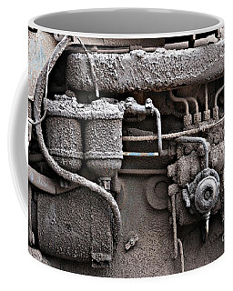 Coffee Mug featuring the photograph Tractor Engine II by Stephen Mitchell