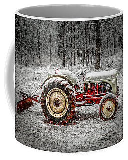 Tractor In The Snow Coffee Mug