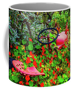 Tractor Lost In The Flowers Coffee Mug