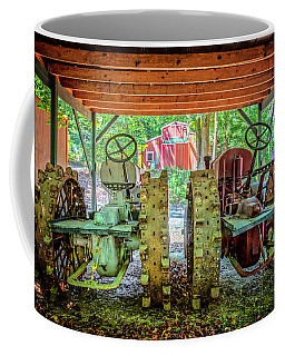 Coffee Mug featuring the photograph Tractors Side By Side by Debra and Dave Vanderlaan