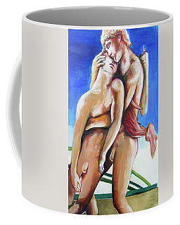Coffee Mug featuring the painting Apollo And Hyacinth Tradgedy Of Love  by Rene Capone